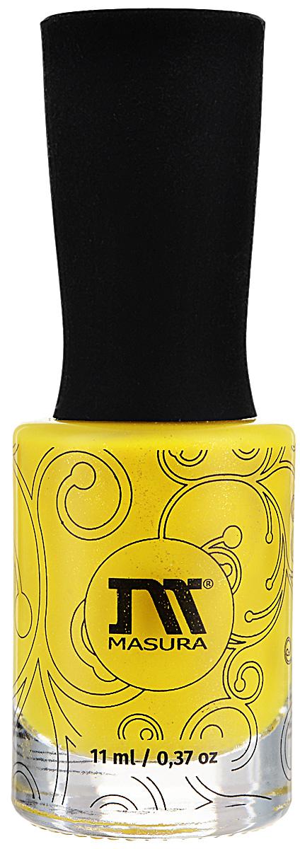 Masura Лак для ногтей Билет в Лето, 11 мл1133Жёлтый с голографическим микрошиммером, плотный