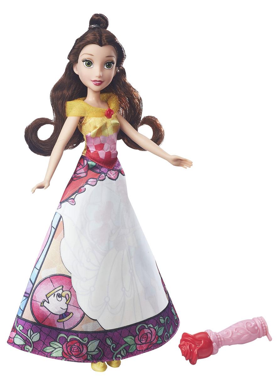 Disney Princess Кукла Бель в юбке с проявляющимся принтом hasbro модная кукла принцесса в юбке с проявляющимся принтом принцессы дисней b5295 b5299