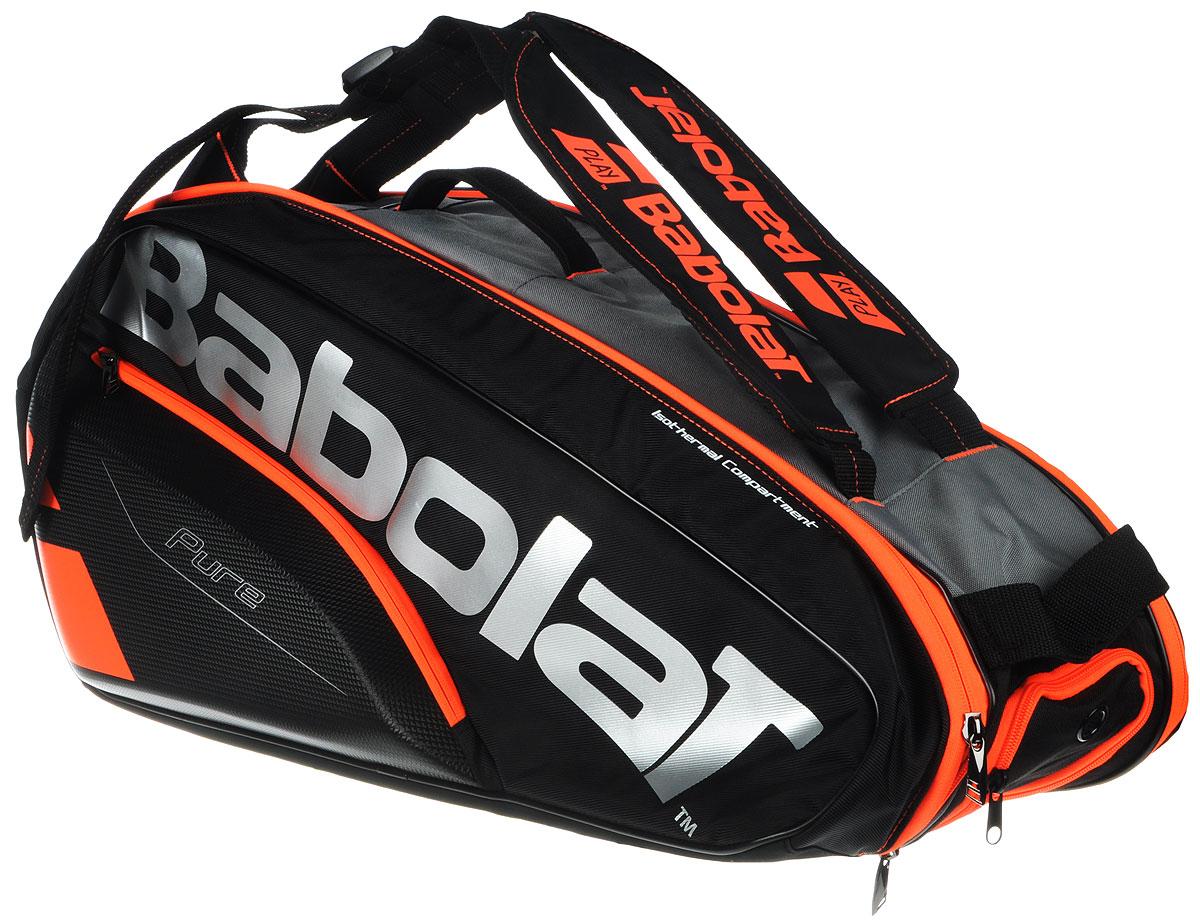 Чехол Babolat  RHX6 Pure , на 6 теннисных ракеток, цвет: оранжевый, черный - Теннис