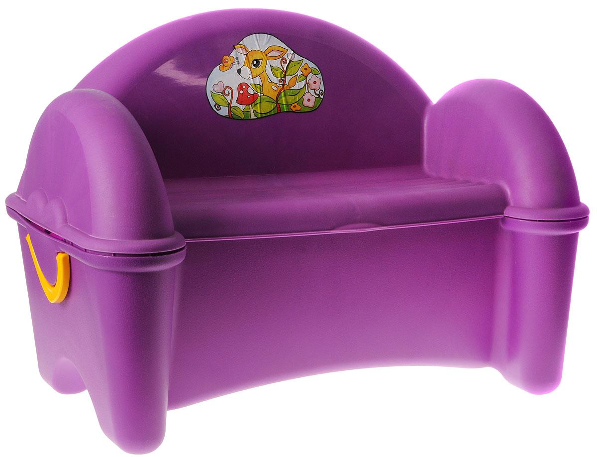 PalPlay Диван-ящик цвет фиолетовый -  Ящики для игрушек