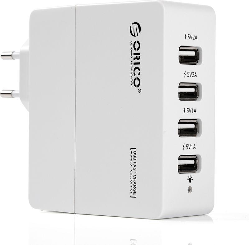 Orico DCA-4U, White сетевое зарядное устройство - Зарядные устройства