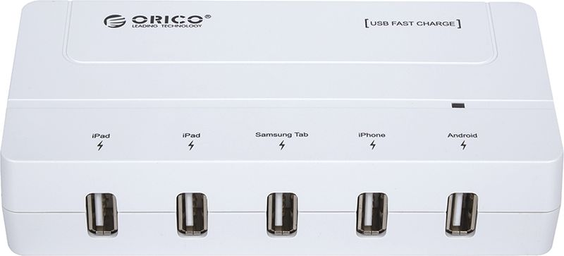 Orico DCH-5U-PRO, White сетевое зарядное устройство - Зарядные устройства