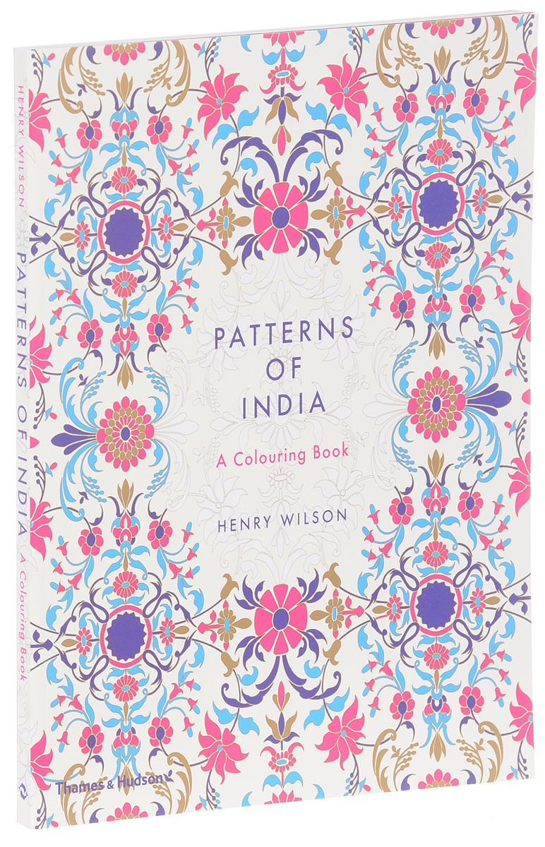 Patterns of India: A Colouring Book 12 inch pu leather small suitcase floral decorative box with straps for women
