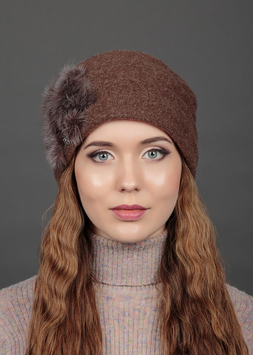 Шапка женская Avanta Diadem, цвет: коричневый меланж. 993768. Размер 56/58993768Яркий и стильный головной убор не только станет прекрасным дополнением Вашего образа, но и согреет в холода. Оттенок и детали изделия могут отличаться от фотографии.
