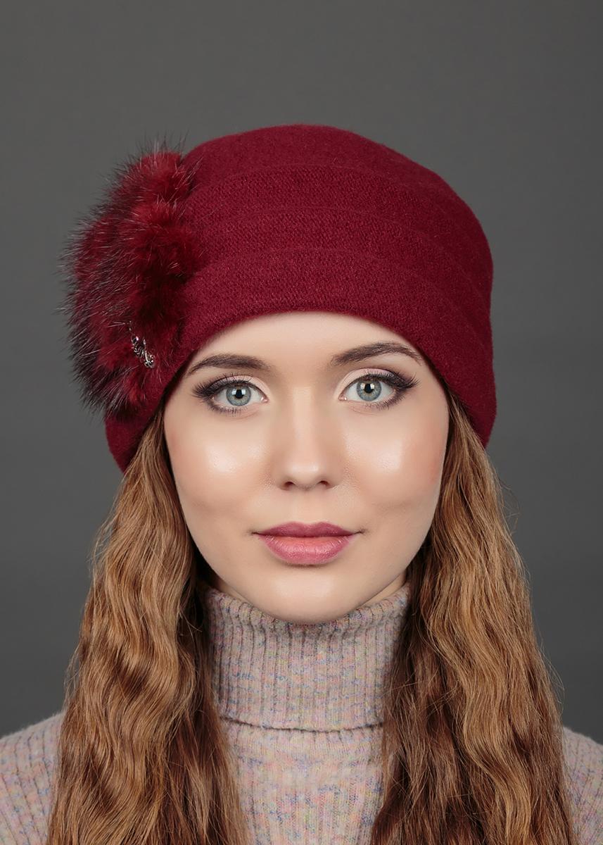 Шапка женская Avanta Diadem, цвет: черешня. 993764. Размер 56/58