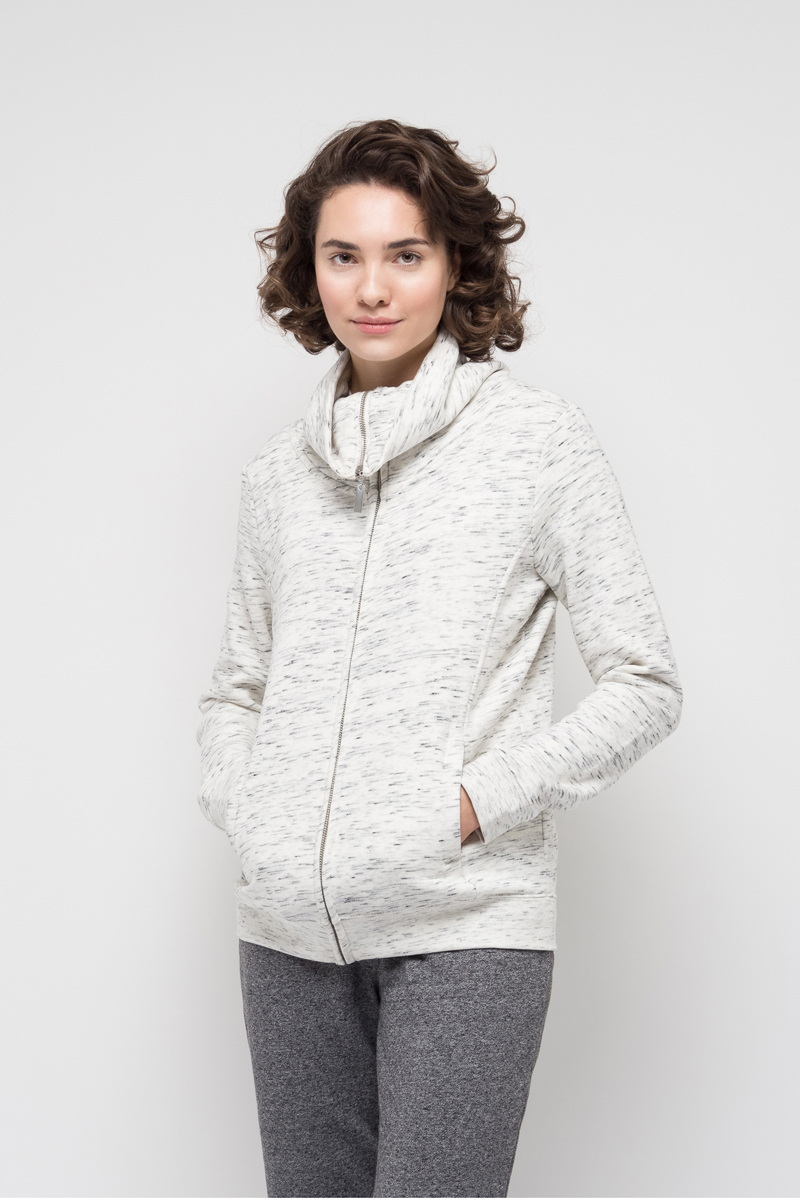 Жакет женский Sela, цвет: серый меланж. Stc-113/935-7351. Размер S (44)Stc-113/935-7351