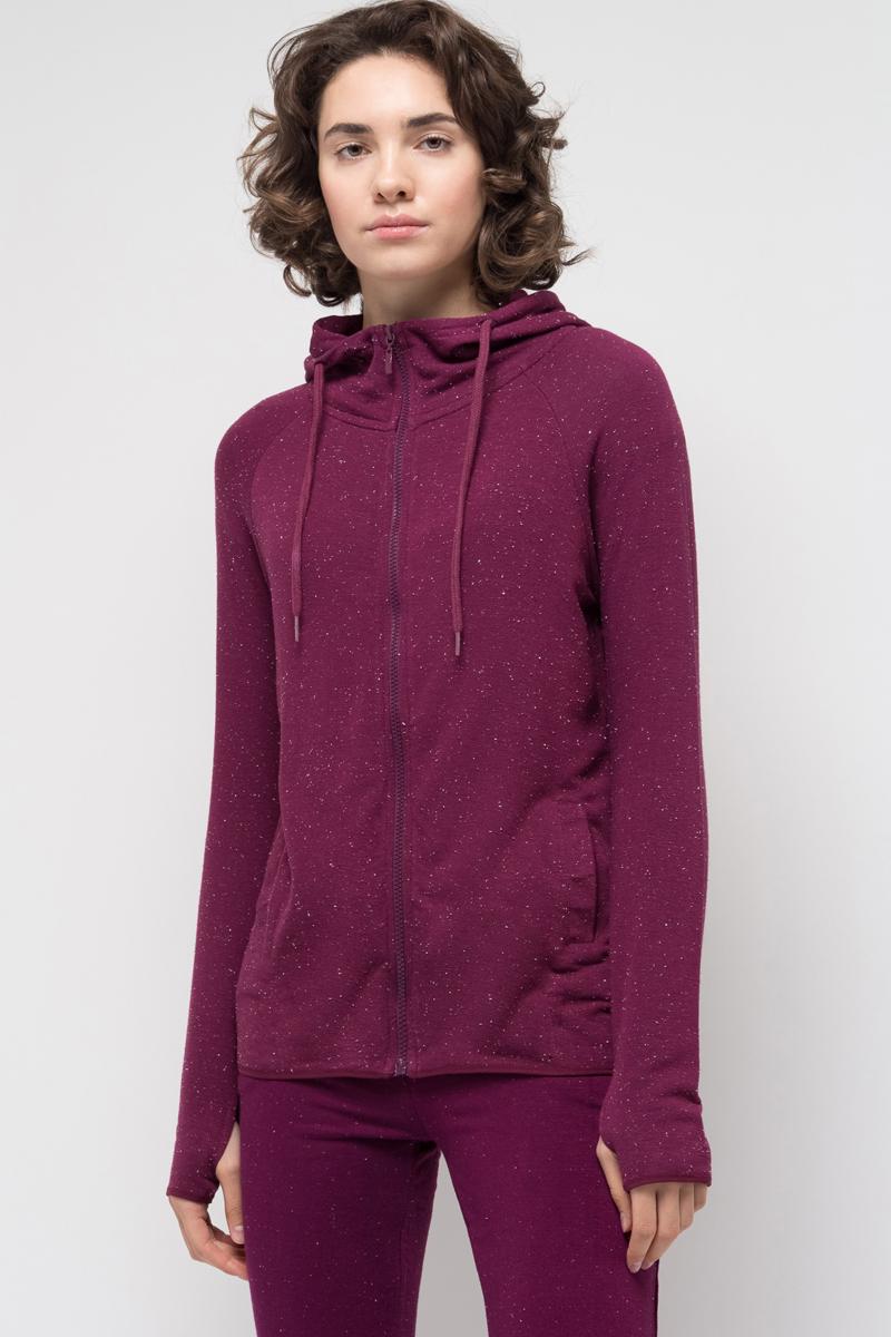 Толстовка женская Sela, цвет: амарантовый. Stc-113/936-7351. Размер XS (42)