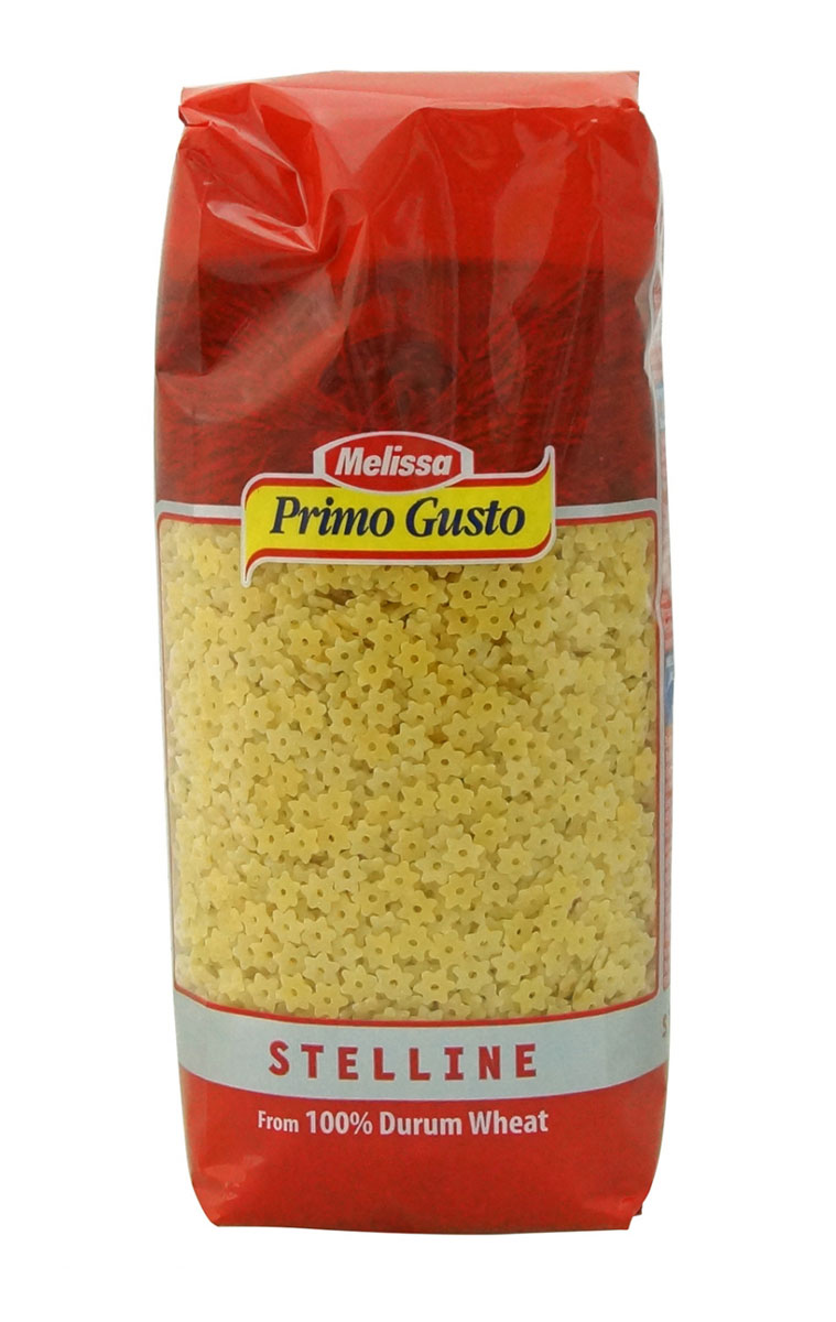 Melissa-Primo Gusto паста стеллини звездочки, 500 г romeo rossi паста сицилийская из муки твердых сортов пенне 500 г