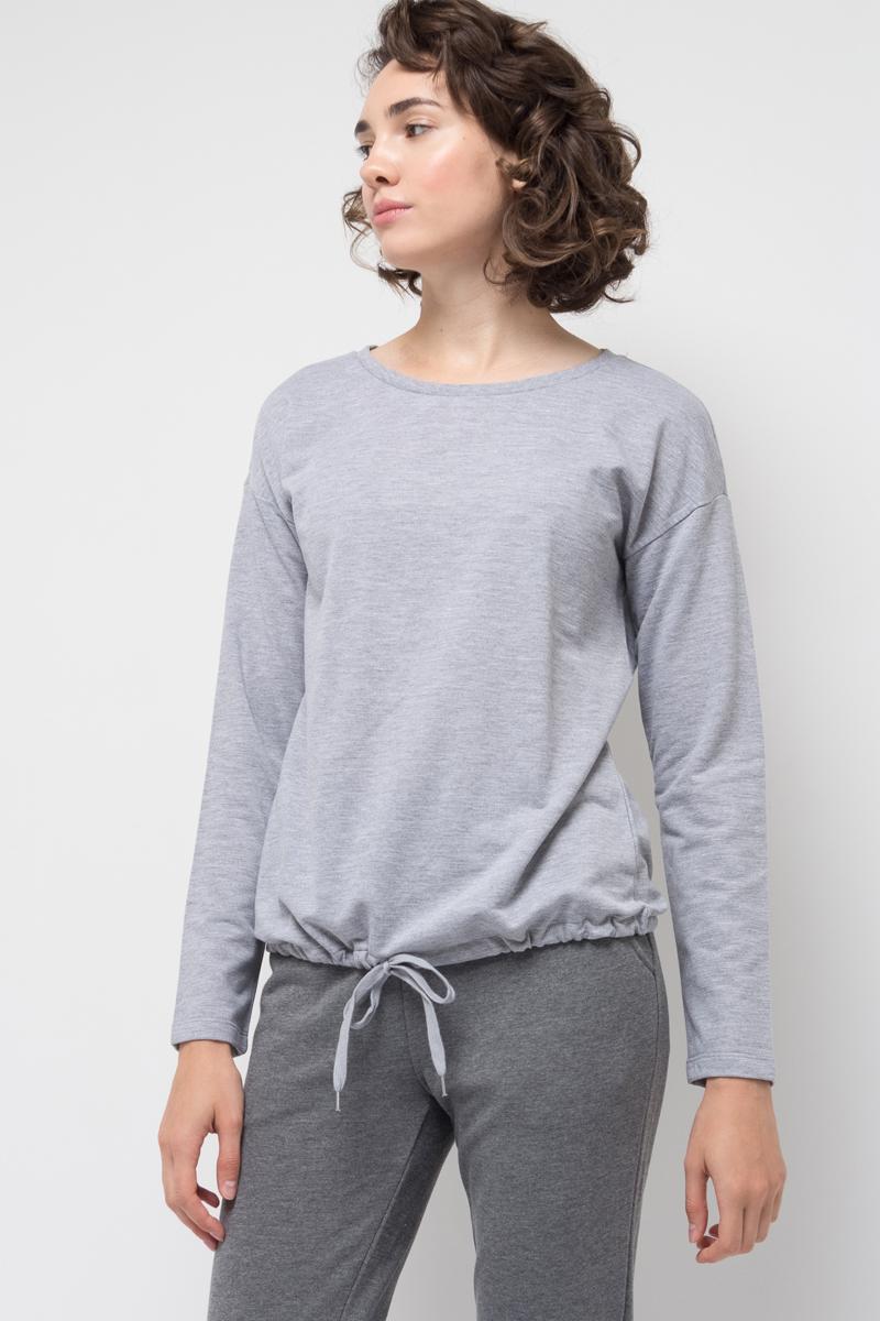Джемпер женский Sela, цвет: серый меланж. St-113/937-7351. Размер M (46)St-113/937-7351