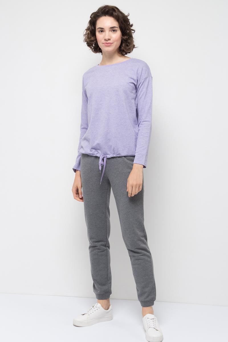 Джемпер женский Sela, цвет: бледно-сиреневый меланж. St-113/937-7351. Размер XL (50)St-113/937-7351
