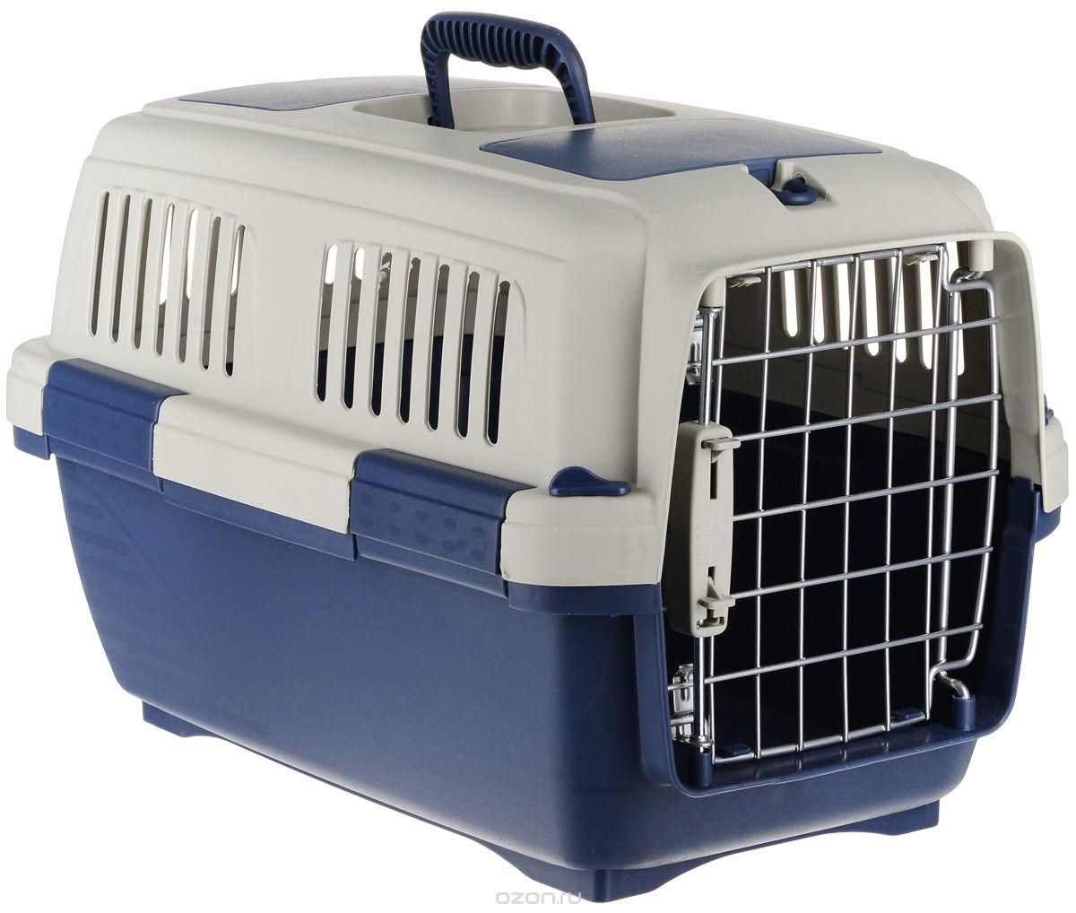 Переноска для животных Marchioro  Tortuga 2 , цвет: синий, бежевый, 57 х 37 х 36 см - Переноски, товары для транспортировки
