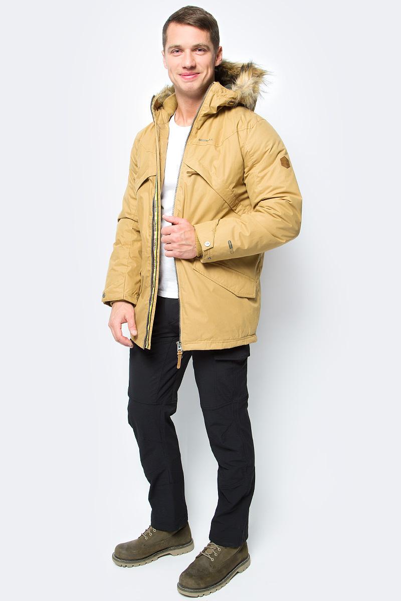 Куртка мужская Merrell Locus, цвет: желтый. A18AMRJAM07-Y2. Размер 54A18AMRJAM07-Y2Утепленная куртка Merrell Locus станет отличным выбором для поездок и долгих прогулок. Модель прямого кроя с капюшоном и воротником-стойкой, защищающими от продувания, изготовлена из высококачественного материала по технологии M Select Shield, которая защищает ткань от воды и грязи. Утеплитель M Select Warm отлично греет и при этом не впитывает влагу. Куртка застегивается на молнию с внутренней ветрозащитной планкой и дополнена 2 накладными карманами с клапанами на кнопках, двумя прорезными карманами на молниях и двумя внутренними карманами. Имеется внутренняя регулируемая утяжка по талии. Капюшон защитит от ветра и осадков, а регулируемые манжеты помогут сохранить тепло.Рекомендуемый температурный режим для данной модели до -10°С, исходя из расчета на среднюю физическую активность - ходьбу 4 км/ч.