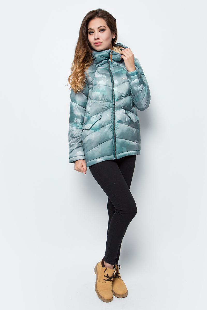 Куртка женская Merrell, цвет: зеленый. A18AMRJAW03-U4. Размер 48 merrell куртка утепленная женская merrell