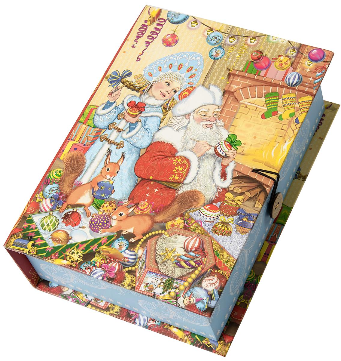 Коробка подарочная Magic Time Внучка Деда Мороза, размер M. 7504175041Подарочная коробка Внучка Деда Мороза-M из мелованного, ламинированного, негофрированного картона плотностью 1100 г, м2, с полноцветным декоративным рисунком на внутренней и наружной части, 20x14x6, артикул 75041