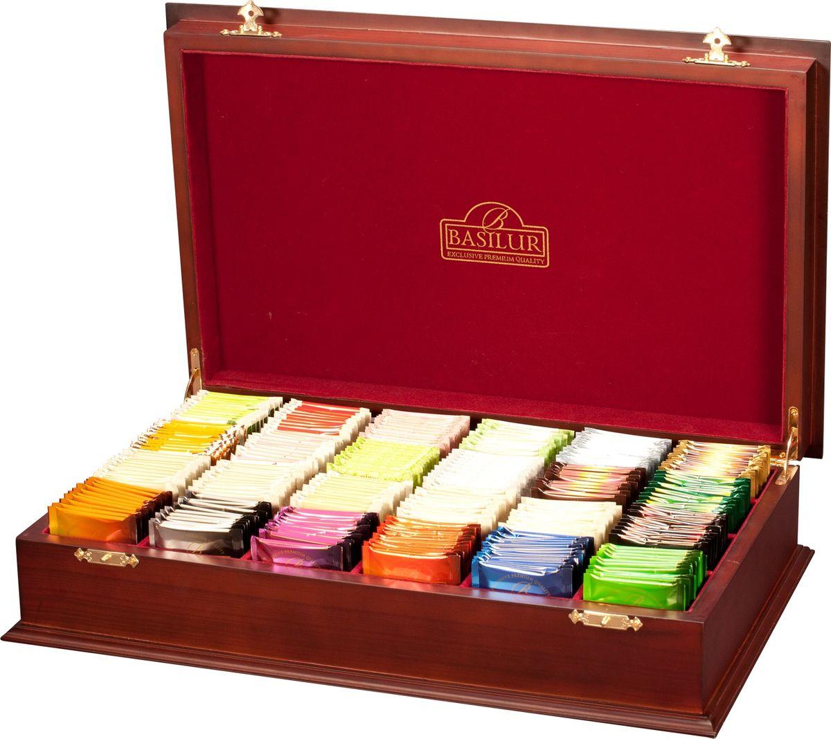 Basilur Wooden Presenter набор чая в пакетиках в шкатулке, 240 шт (24 вида) basilur чайный набор букет белое волшебство