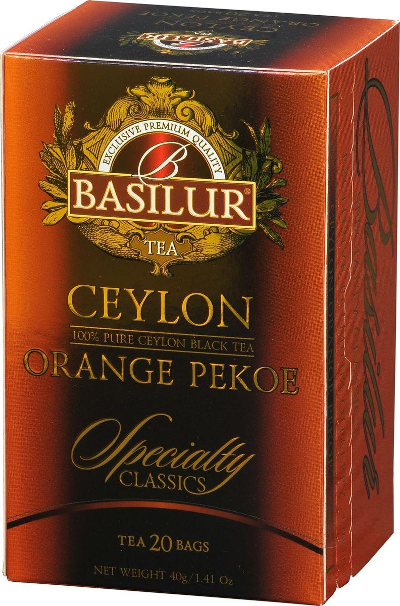 Basilur Ceylon Orange Pekoe черный чай в пакетиках, 20 шт basilur golden crescent черный чай в пакетиках 20 шт