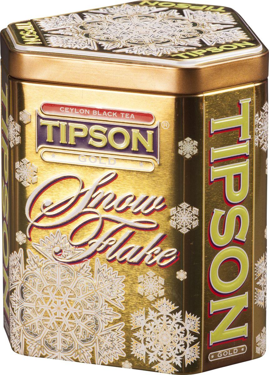 Tipson Snow Flake-Gold черный листовой чай, 100 г80056-00Золотая Снежинка из коллекции Tipson станет незабываемым сказочным подарком! Яркая упаковка в форме снежинки всегда будет радовать своей красотой, а цейлонский черный чай в сочетании имбиря и лимона согреют в холодные вечера. Состав: чай черный цейлонский байховый листовой, ароматизаторы лимона и имбиря.