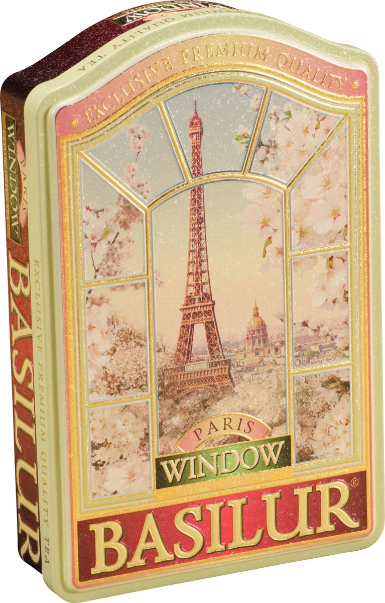 Basilur Paris зеленый листовой чай с вишней, 100 г70615-00вПолучите незабываемые новые ощущения, наслаждаясь чаем из коллекции ОКНА, который перенесет Вас в одно из красивейших мест - Париж, с его безмятежными и романтичными видами. Окунитесь в красоту природы и полностью ощутите как она наполняет Вас энергией и успокаивает Ваши чувства. Состав: чай зеленый цейлонский байховый листовой, кусочки вишни, лепестки василька и ароматом миндаля, ванили и клубники. Упакован в жестяную коробочку.
