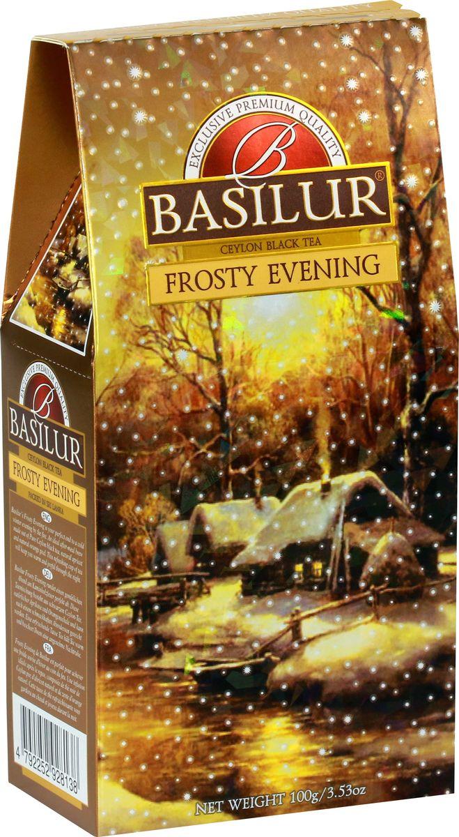 Basilur Frosty Evening черный листовой чай, 100 г дольче вита с рождеством христовым черный листовой чай 170 г