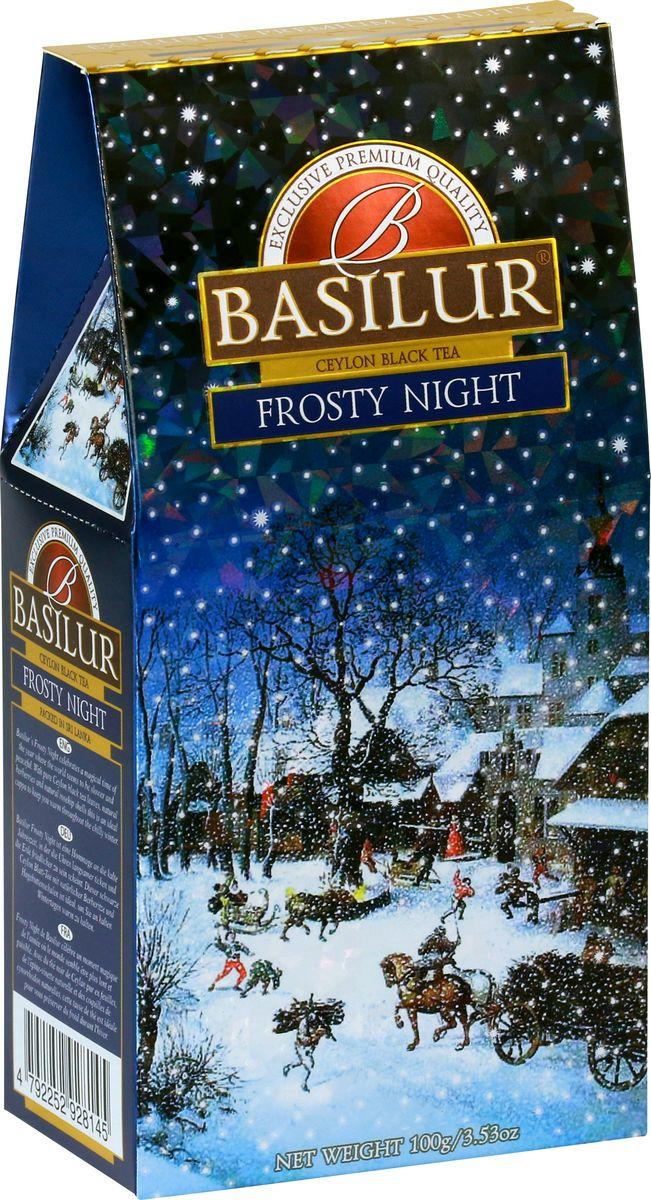 Basilur Frosty Night черный листовой чай, 100 г mabroc ночь 1000 звезд чай листовой 85 г