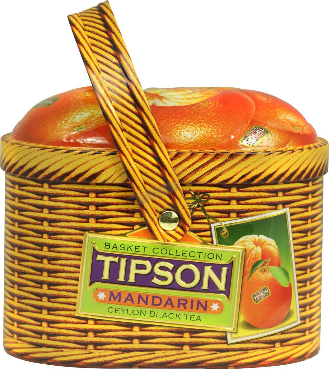 Tipson Mandarin черный листовой чай, 80 г дольче вита с рождеством христовым черный листовой чай 170 г