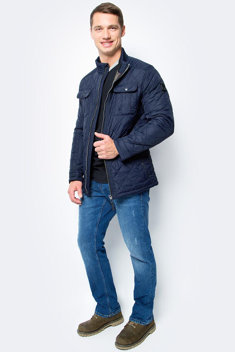 Куртка мужская Tom Tailor, цвет: синий. 3533470.00.10_6800. Размер L (50) куртка мужская fresh brand цвет темно синий h3 df071 night blue размер l 50