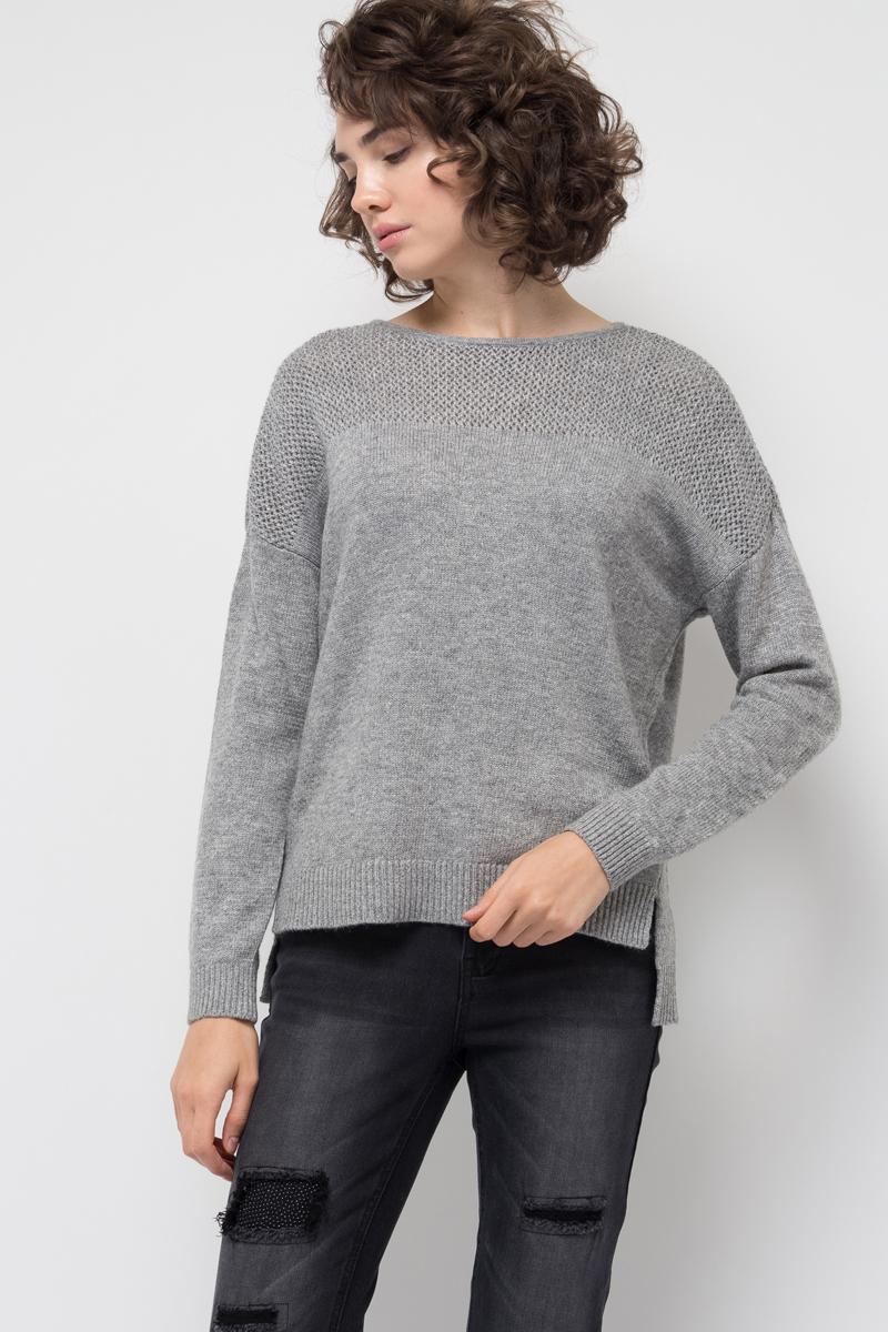 Джемпер женский Sela, цвет: серый меланж. JR-314/024-7412. Размер XL (50)JR-314/024-7412