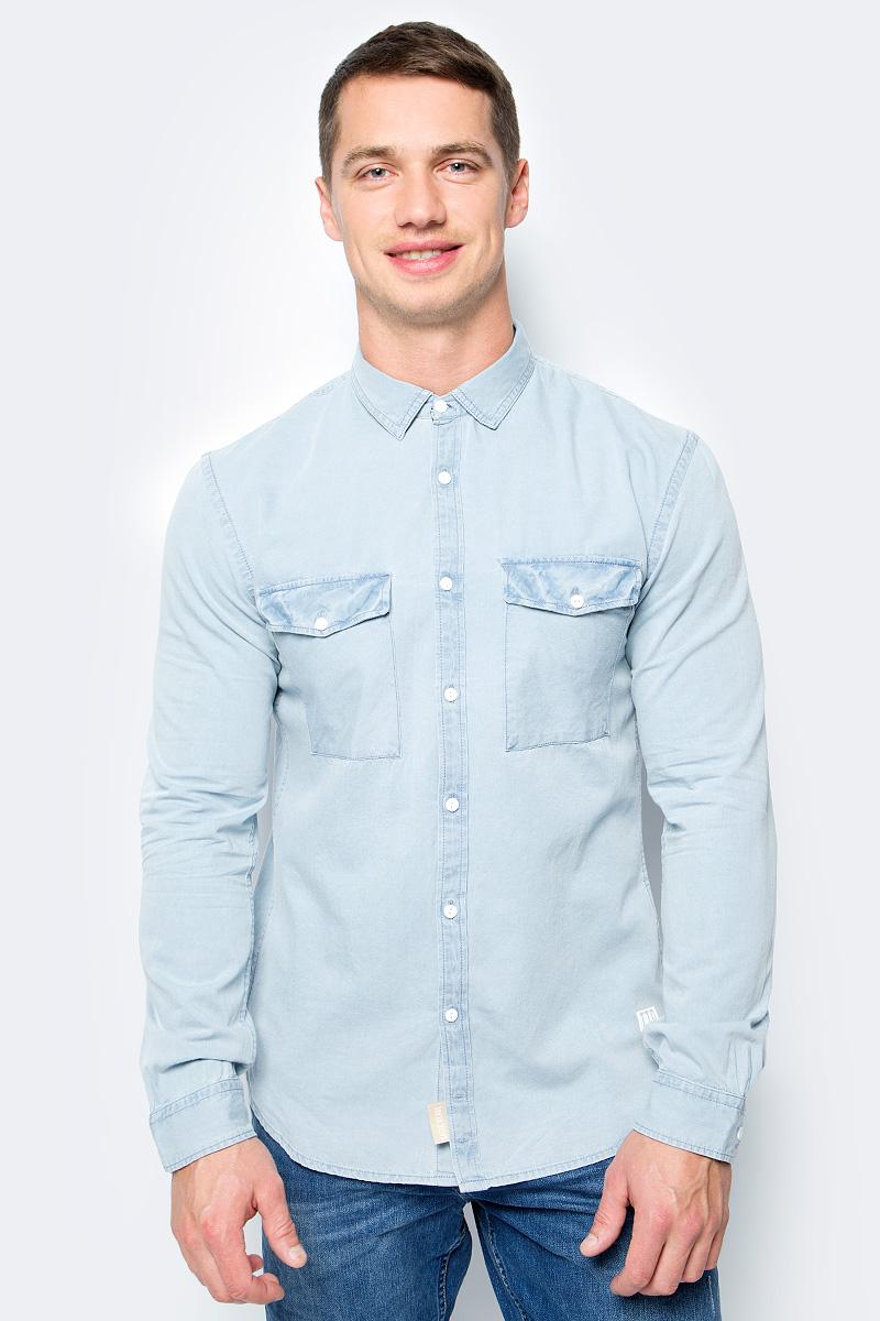 Рубашка мужская Tom Tailor, цвет: голубой. 2055041.00.12_1301. Размер M (48) рубашка мужская nautica wr5218 15