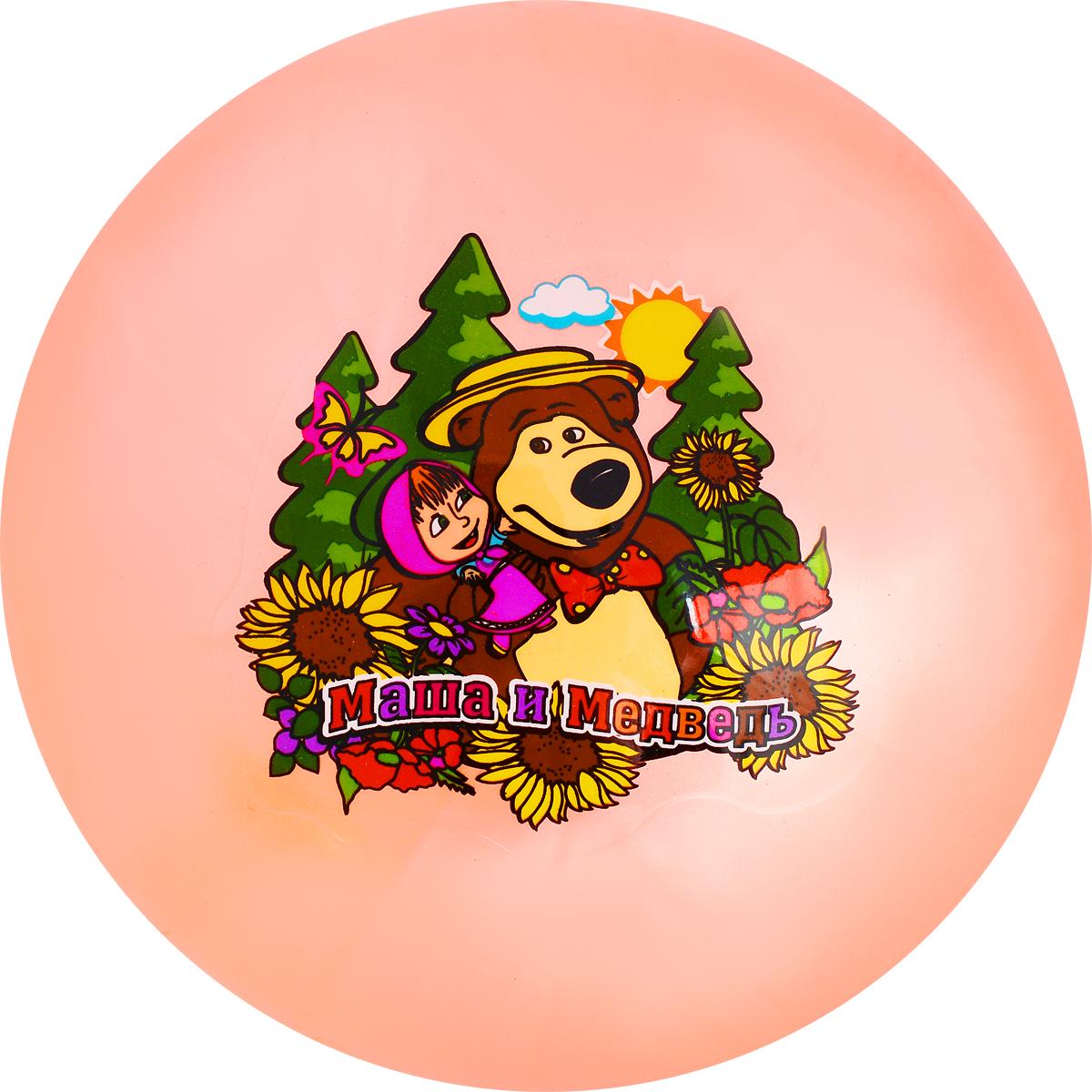 Играем вместе Мяч Маша и Медведь цвет оранжевый 23 см