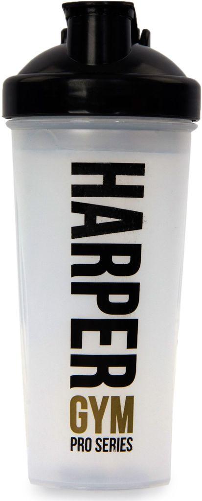 Шейкер Harper Gym, цвет: прозрачный, черный, 700 мл
