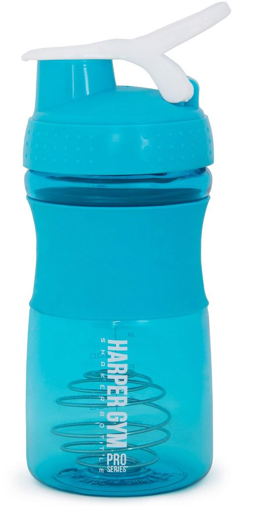 Шейкер Harper Gym Shaker Bottle, с венчиком, цвет: голубой, 500 мл336733Размер: 10 x 20 см. Материал: пластик Размешивание с помощью венчика