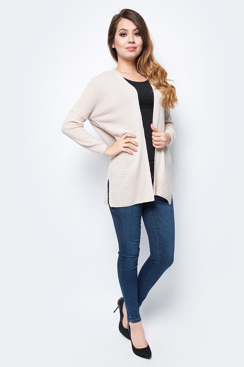 Кардиган женский Only, цвет: серый. 15139978_Pumice Stone. Размер S (42/44)15139978_Pumice StoneУютный кардиган от Only выполнен из натуральной акриловой пряжи. Модель с длинными рукавами не имеет застежки.