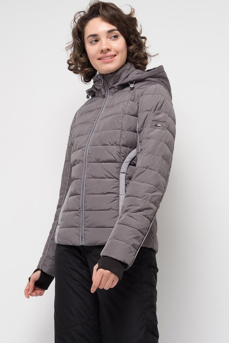 Куртка женская Sela, цвет: темно-серый. Cp-126/998-7381. Размер XL (50)Cp-126/998-7381