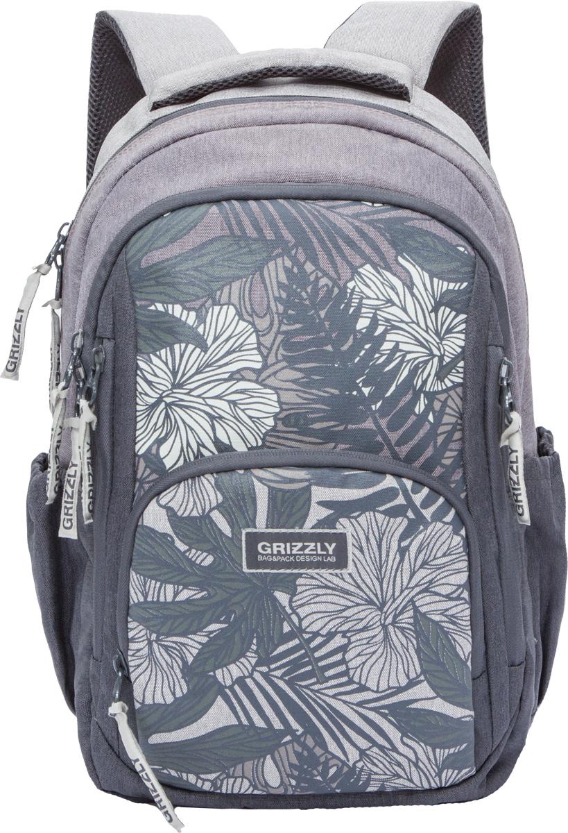 Рюкзак молодежный женский Grizzly, цвет: коричневый, 15,5 л. RD-754-1/1RD-754-1/1Женский рюкзак Grizzly изготовлен из полиэстера и имеет два главных отделения, закрывающиеся застежки-молнии, объемный карман на молнии на передней стенке, боковые карманы на резинке, внутренний карман для планшета, внутренний карман на молнии, внутренний составной пенал-органайзер. Рюкзак с анатомической спинкой оснащен двумя широкими мягкими лямками регулируемой длины и удобной короткой ручкой.