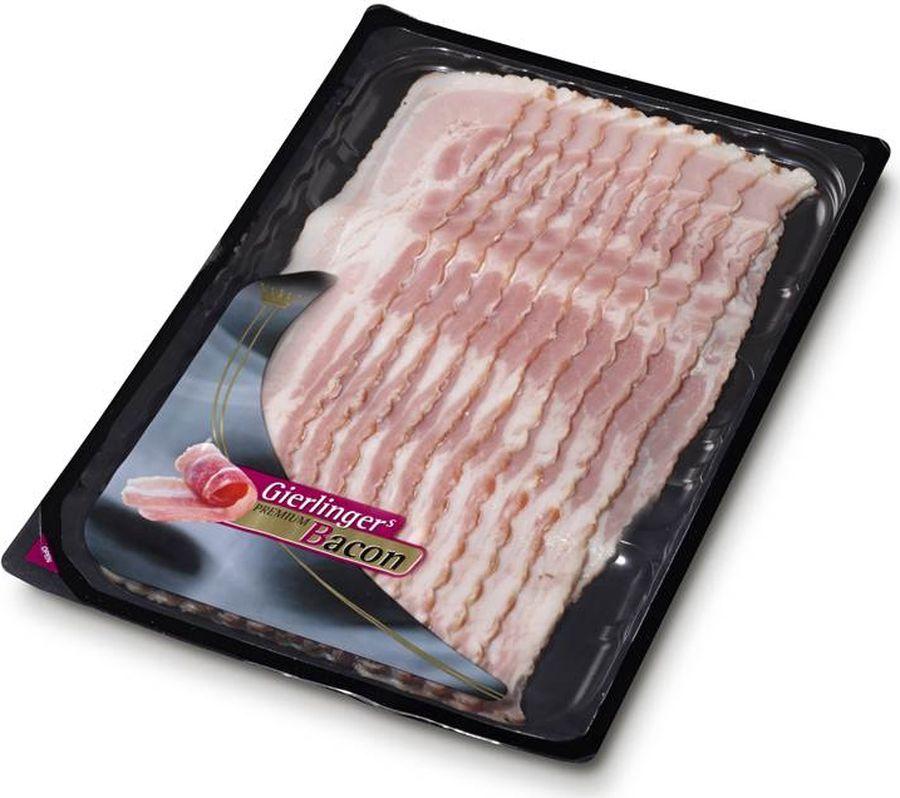 Gierlinger Бекон варено-копченый, 200 гМС-00008307Варено-копченый бекон Gierlinger изготовлен по традиционному рецепту. Отличается нежной консистенцией и тонким ароматом. Идеален для приготовления холодных закусок, супов, пиццы, пасты и других вкусных блюд. Сербская компания Mitros Fleischwaren d. o. o, входящая в состав крупного австрийского холдинга Gierlinger, расположена в городе Сремске-Митровице на площади 20 000 м2. Выгодное географическое положение и уникальные природно-климатические условия региона создают идеальные условия для производства высококачественных мясных изделий.