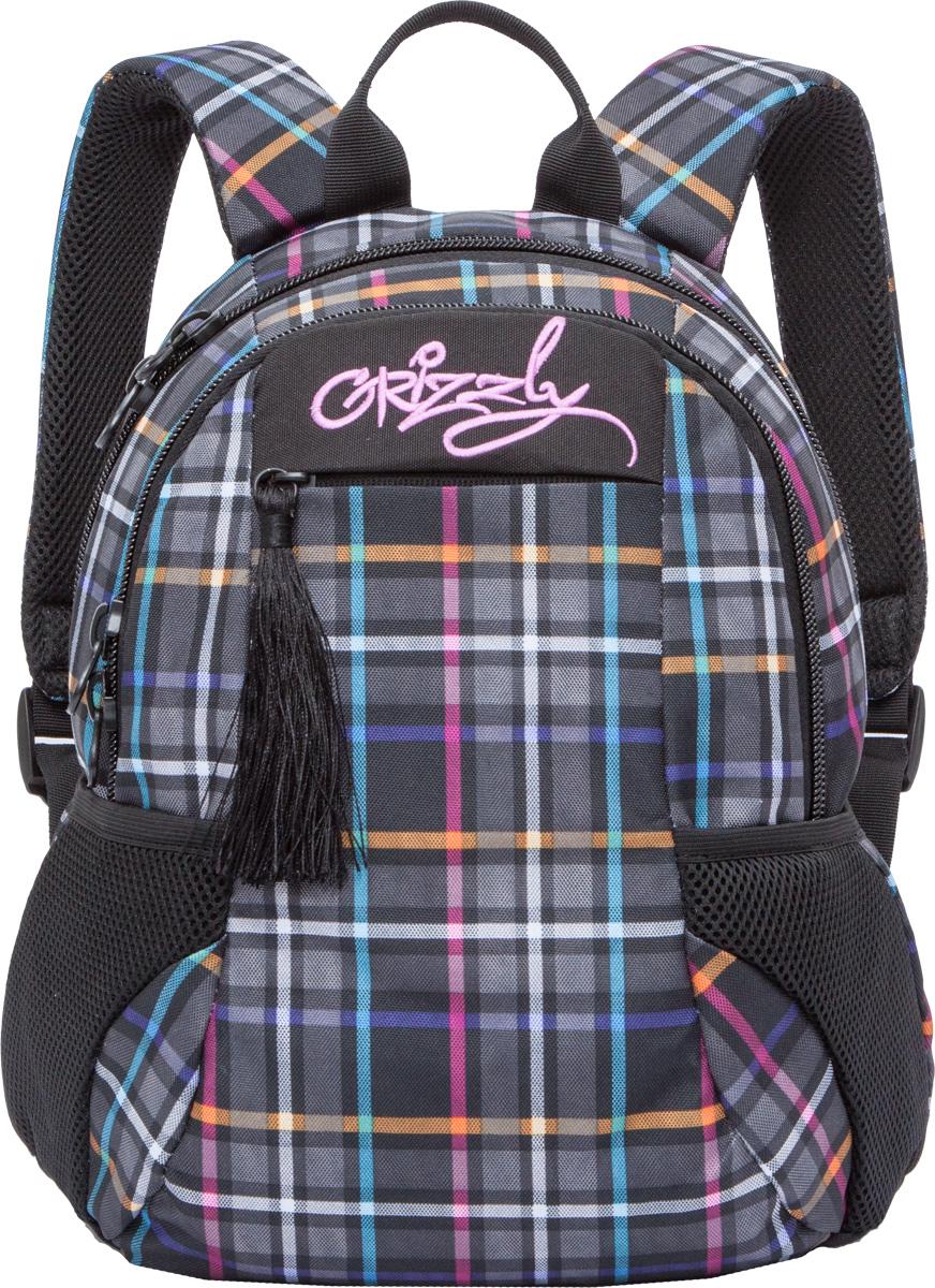 Рюкзак молодежный женский Grizzly, цвет: серый, 9,5 л. RD-741-2/7RD-741-2/7Женский рюкзак Grizzly изготовлен из полиэстера и имеет два главных отделения, закрывающиеся на застежки-молнии, карман на молнии на передней стенке, боковые карманы из сетки, внутренний карман-пенал для карандашей. Рюкзак с анатомической спинкой оснащен двумя широкими мягкими лямками регулируемой длины и удобной короткой ручкой.