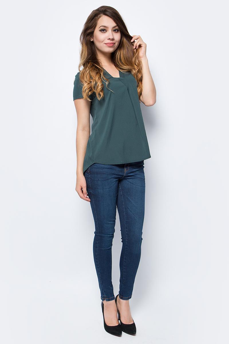 Блузка жен Vero Moda, цвет: зеленый. 10185936_Green Gables. Размер L (48)10185936_Green Gables