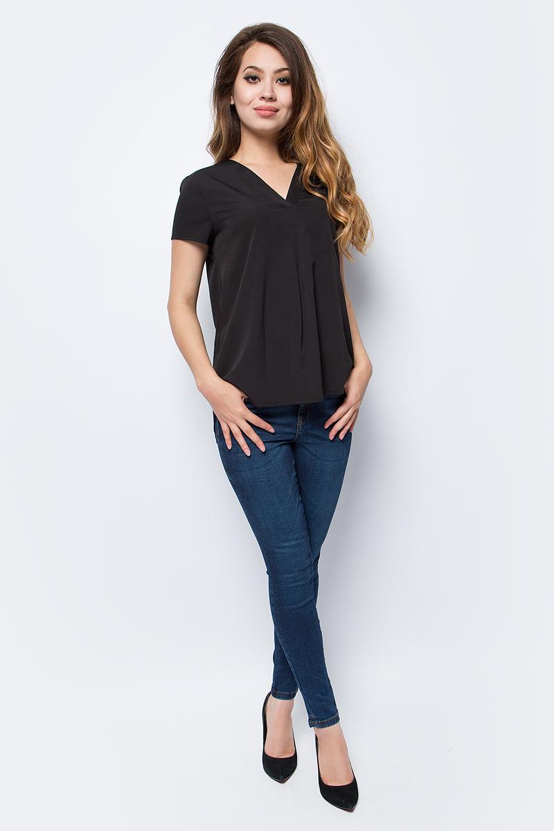 Блузка женская Vero Moda, цвет: черный. 10185936_Black. Размер XS (40/42) блузка женская vero moda цвет темно синий 10185884 navy blazer размер xs 40 42