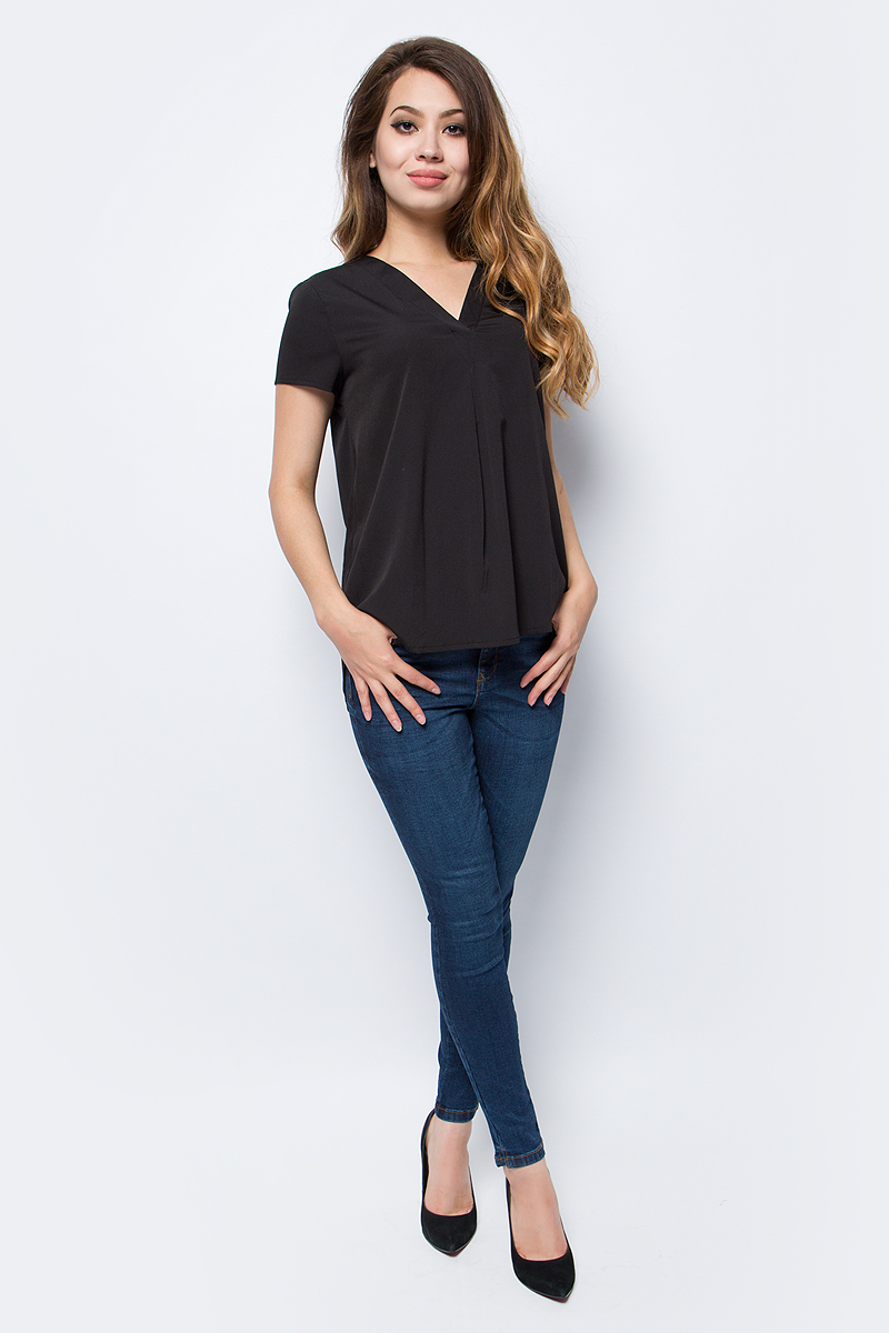 Блузка жен Vero Moda, цвет: черный. 10185936_Black. Размер S (42/44)10185936_Black