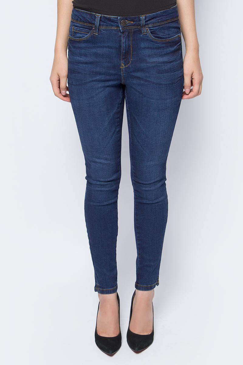 Джинсы женские Vero Moda, цвет: темно-синий. 10186062_Dark Blue Denim. Размер 27-32 (42/44-32) брюки женские vero moda цвет черный 10183272 размер s 32 42 32