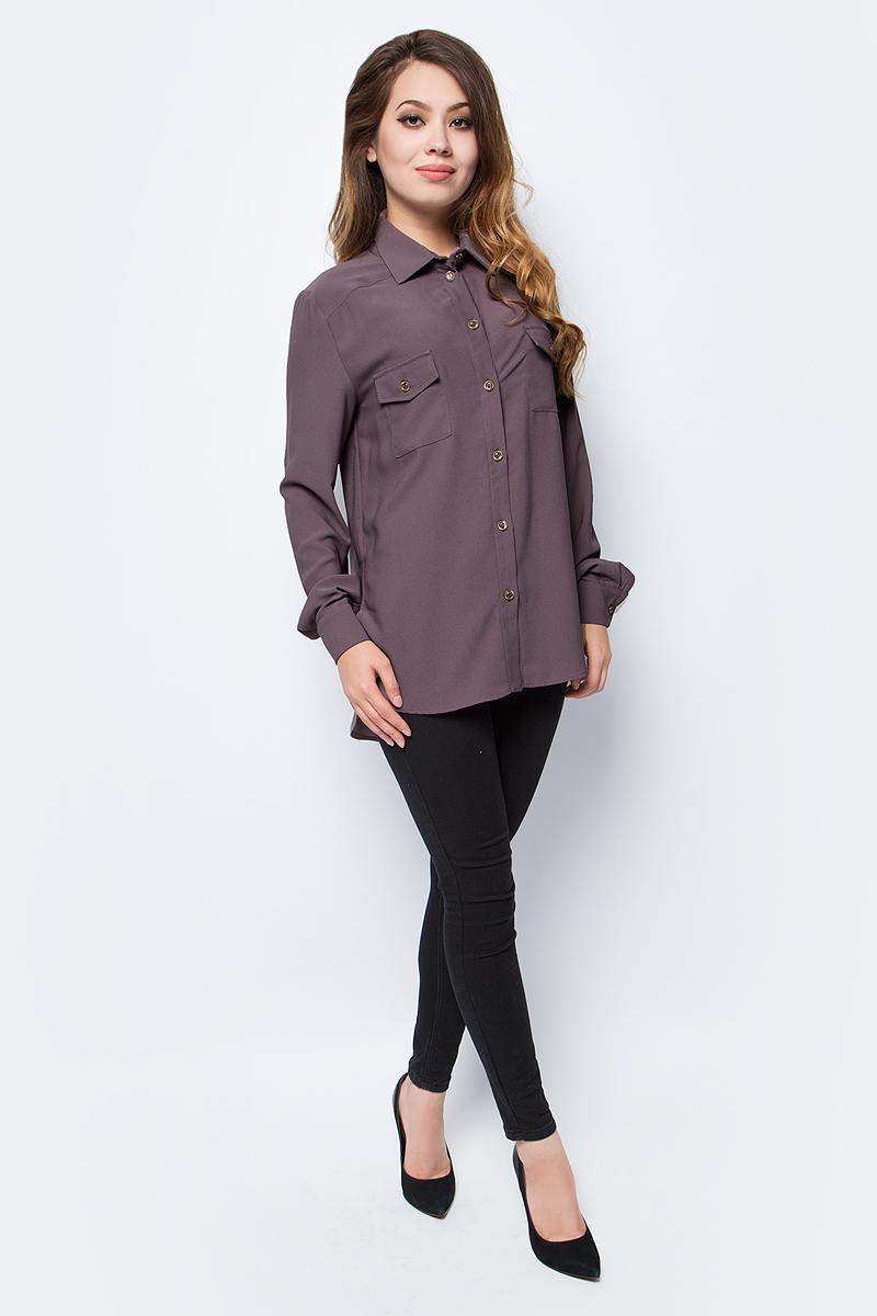 Блузка женская La Via Estelar, цвет: кофейный. 33951-1. Размер 5033951-1