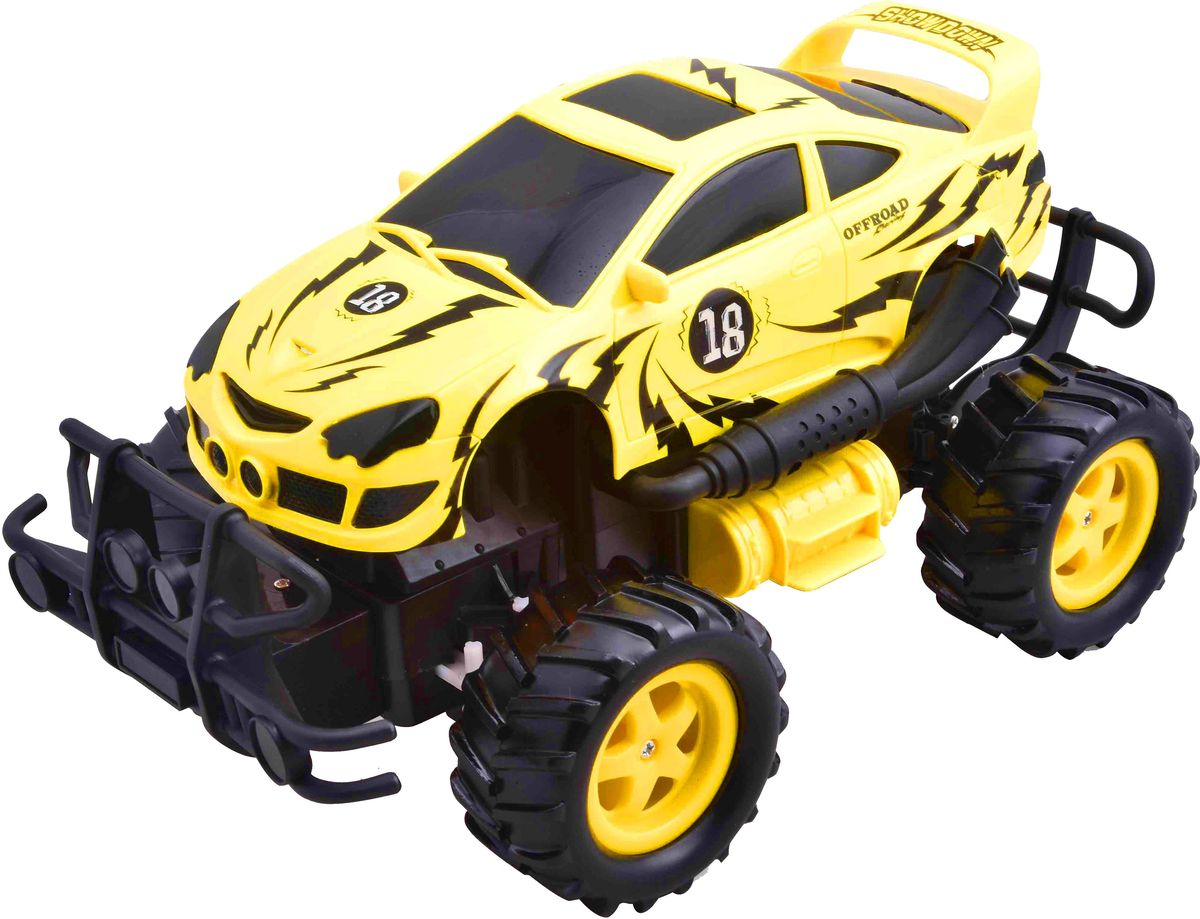 Pilotage Внедорожник на радиоуправлении OffRoader цвет желтый pilotage машина на радиоуправлении внедорожник off road race truck цвет синий масштаб 1 20