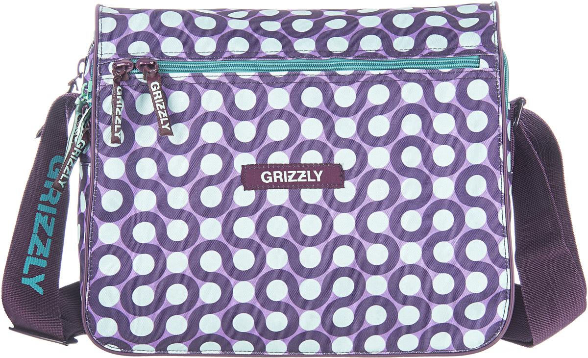Сумка женская Grizzly, цвет: фиолетовый, 9,5 л. MD-524-3/2
