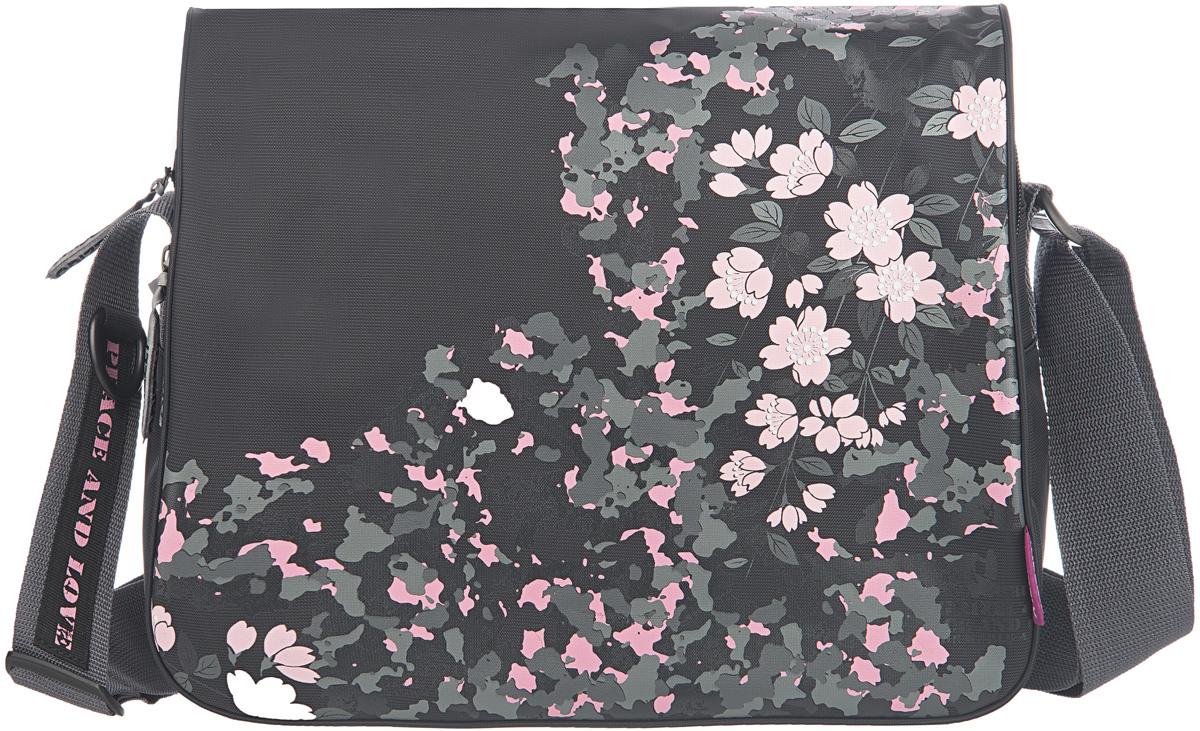 Сумка женская Grizzly, цвет: черный, 9,5 л. MD-533-2/2MD-533-2/2Молодежная женская сумка Grizzly изготовлена из плотного текстиля с водоотталкивающей пропиткой. Сумка имеет два главных отделения, закрывающихся клапаном на липучке, передний карман, плоский передний карман и внутренний карман на молнии. Сумка оснащена регулируемым плечевым ремнем.