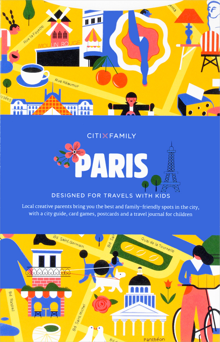 Paris: CITIxFamily City Guides 30pcs in one postcard take a walk on the go paris france christmas postcards greeting birthday message cards 10 2x14 2cm