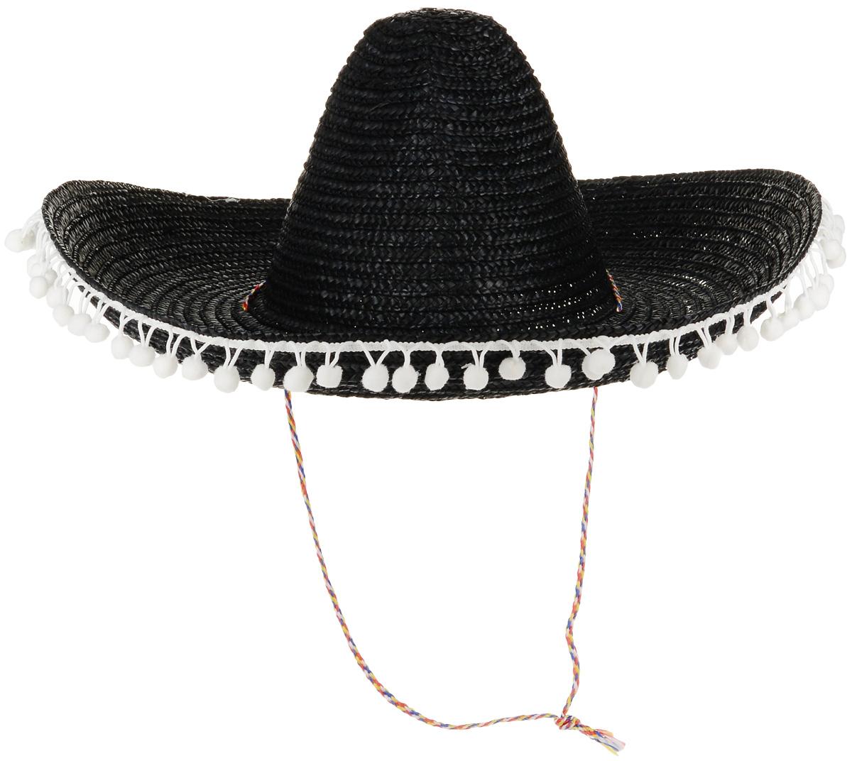 Rio Шляпа карнавальная цвет черный 8155 - Карнавальные костюмы и аксессуары