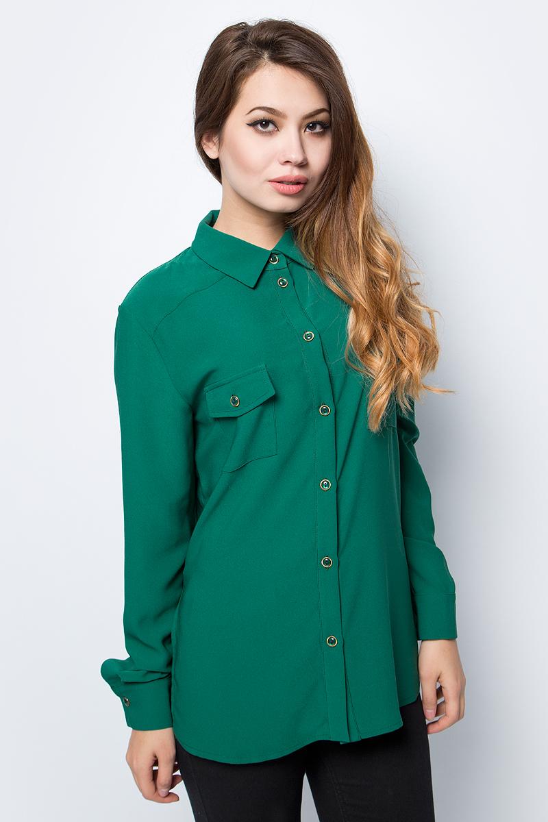 Блузка женская La Via Estelar, цвет: зеленый. 33951. Размер 48
