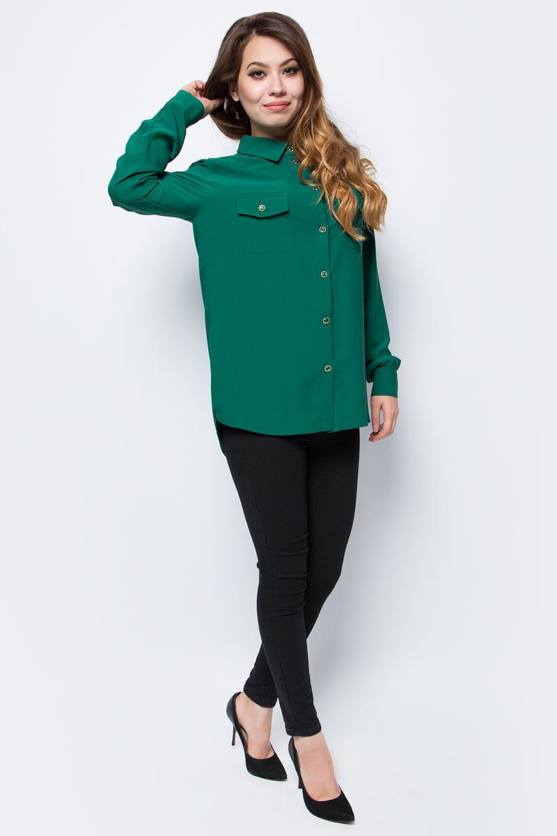 Блузка женская La Via Estelar, цвет: зеленый. 33951. Размер 4633951