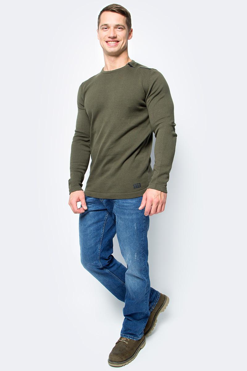 Джемпер мужской Tom Tailor, цвет: зеленый. 3055015.00.12_7807. Размер L (50)3055015.00.12_7807Джемпер мужской Tom Tailor выполнен из натурального хлопка. Материал изделия мягкий и тактильно приятный, не стесняет движений и обладает высокими дышащими свойствами. Модель с длинными рукавами и круглым вырезом горловины.