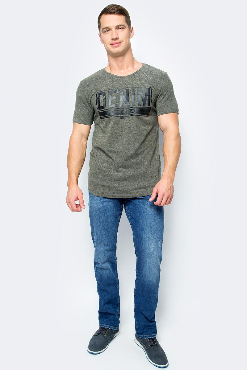 Футболка мужская Tom Tailor, цвет: зеленый. 1055208.00.12_7807. Размер L (50)1055208.00.12_7807Мужская футболка Tom Tailor выполнена из высококачественного материала. Модель с короткими рукавами и круглым вырезом горловины оформлена на груди принтом.